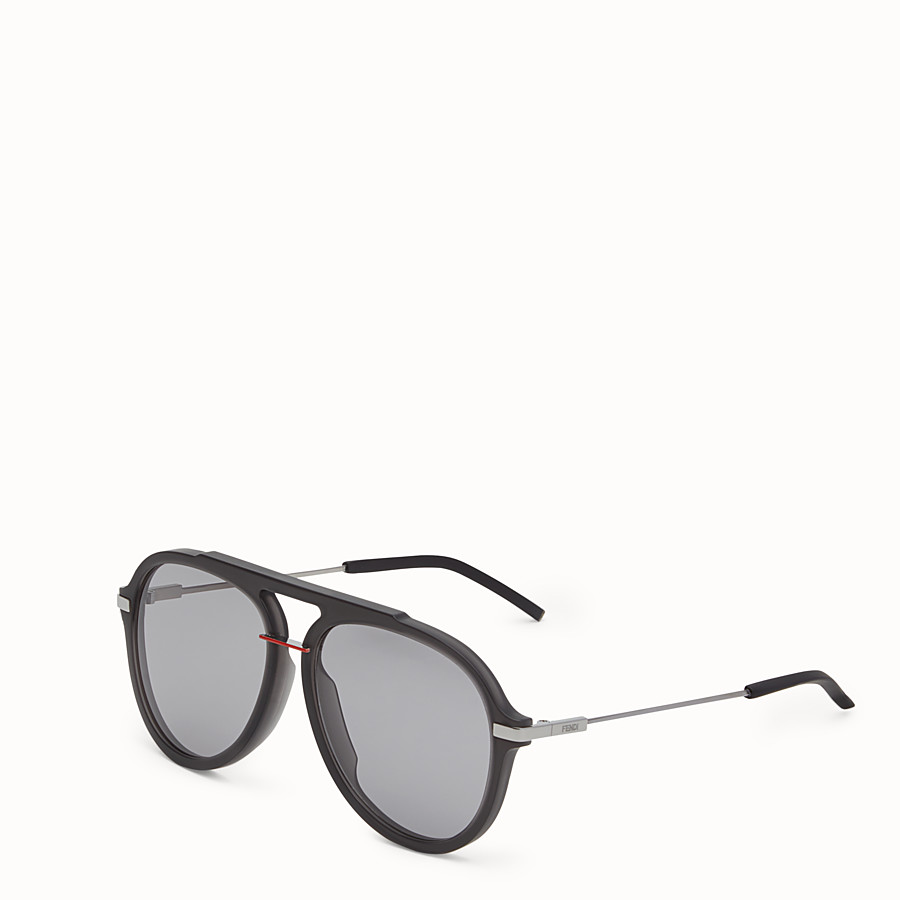 FENDI FENDI FANTASTIC - Black satin-finish sunglasses - view 2 detail