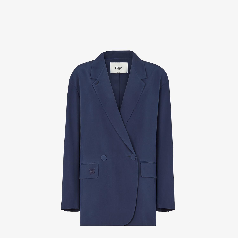 FENDI JACKET - Blue crêpe de chine jacket - view 1 detail