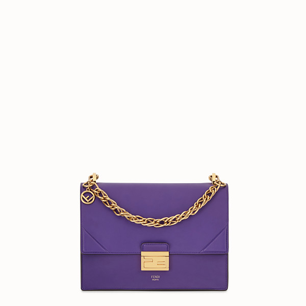 FENDI KAN U - Purple leather bag - view 1 small thumbnail