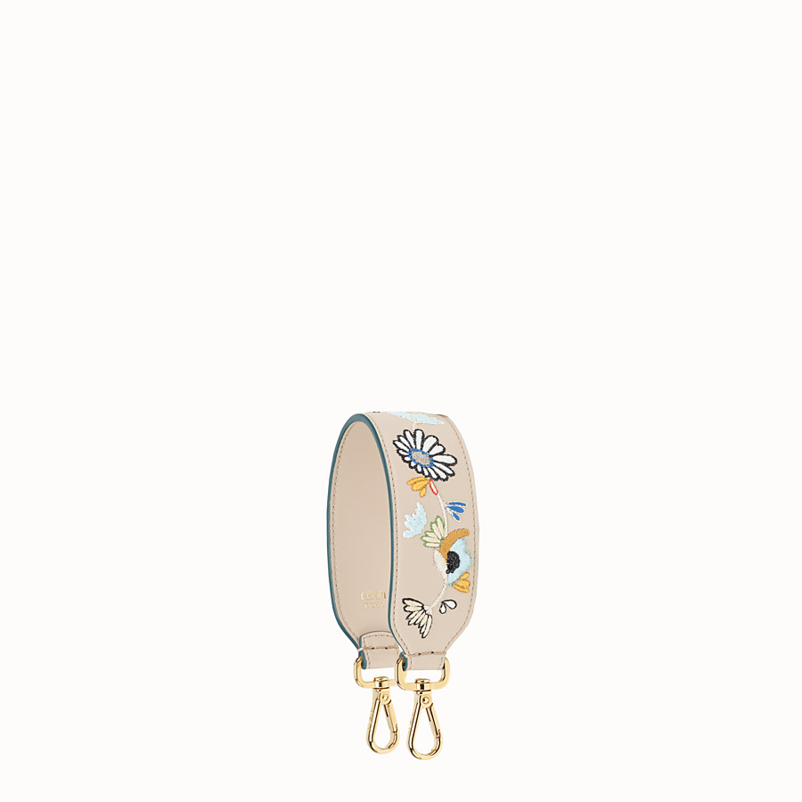 FENDI MINI STRAP YOU - Embroidered leather shoulder strap - view 1 detail