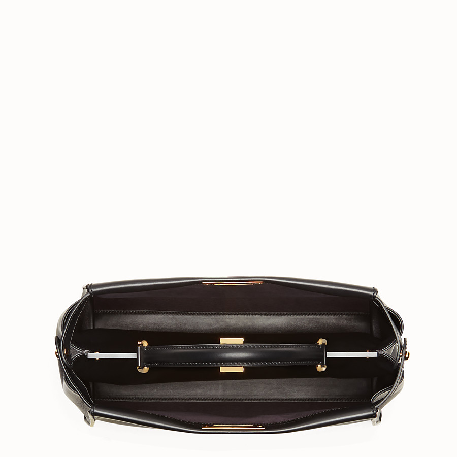 FENDI PEEKABOO LARGE - Black leather handbag - view 4 detail