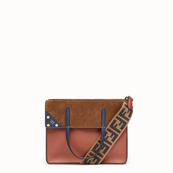 FENDI FENDI FLIP MEDIUM - Red leather bag - view 1 small thumbnail