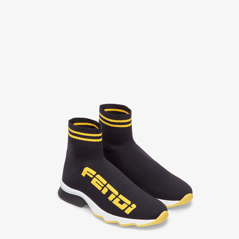 FENDI SNEAKERS - Black fabric sneakers - view 4 detail
