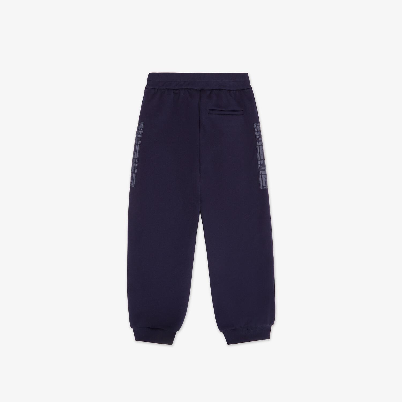 FENDI JUNIOR PANTS - Navy blue fleece and nylon junior pants - view 2 detail
