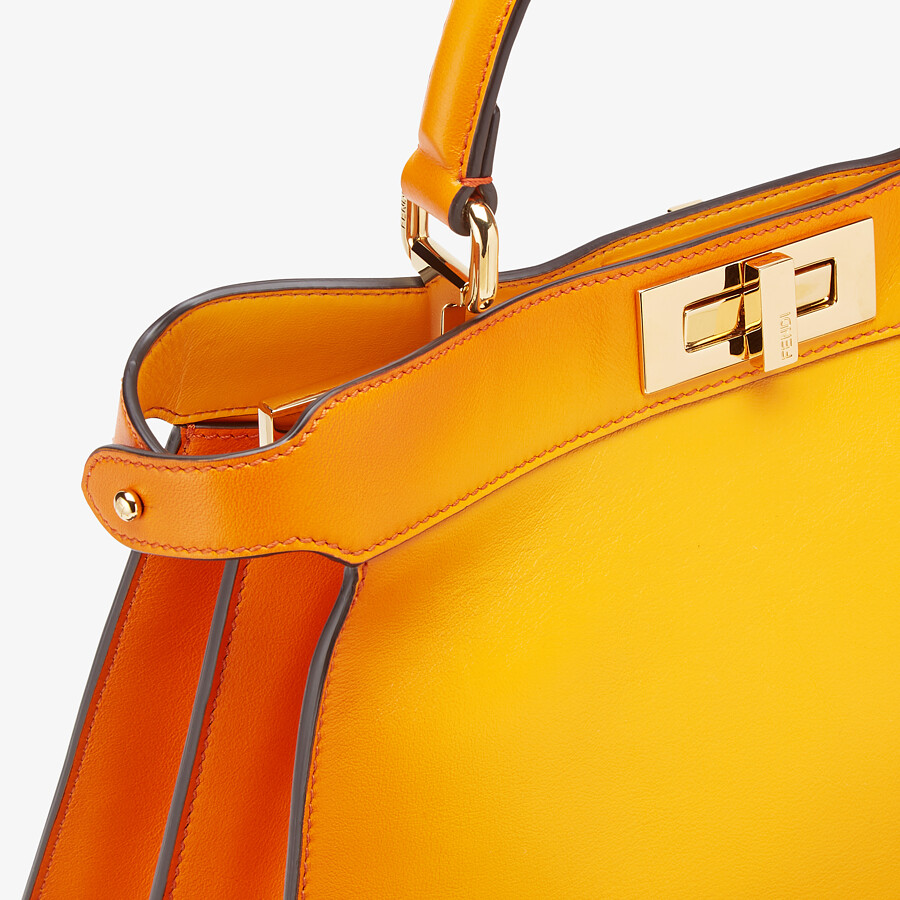 FENDI PEEKABOO ISEEU MEDIUM - Orange leather bag - view 7 detail