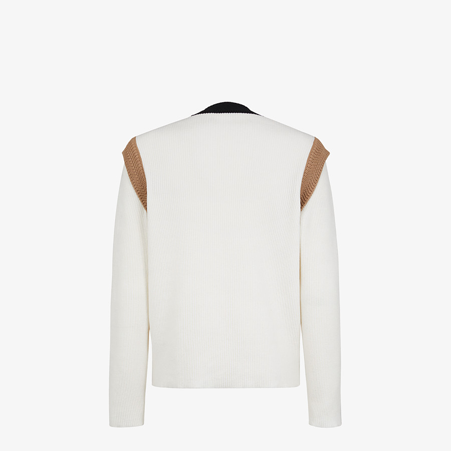 FENDI SWEATER - White chenille sweater - view 2 detail