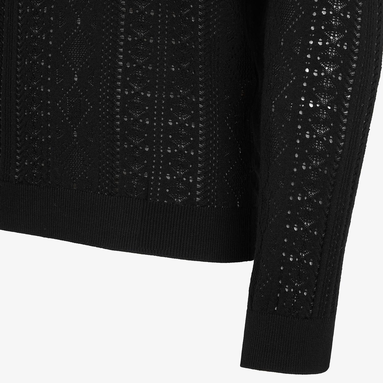FENDI セーター - ブラックビスコース セーター - view 3 detail