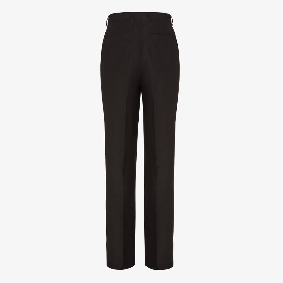 FENDI PANTS - Black hemp fabric pants - view 2 detail