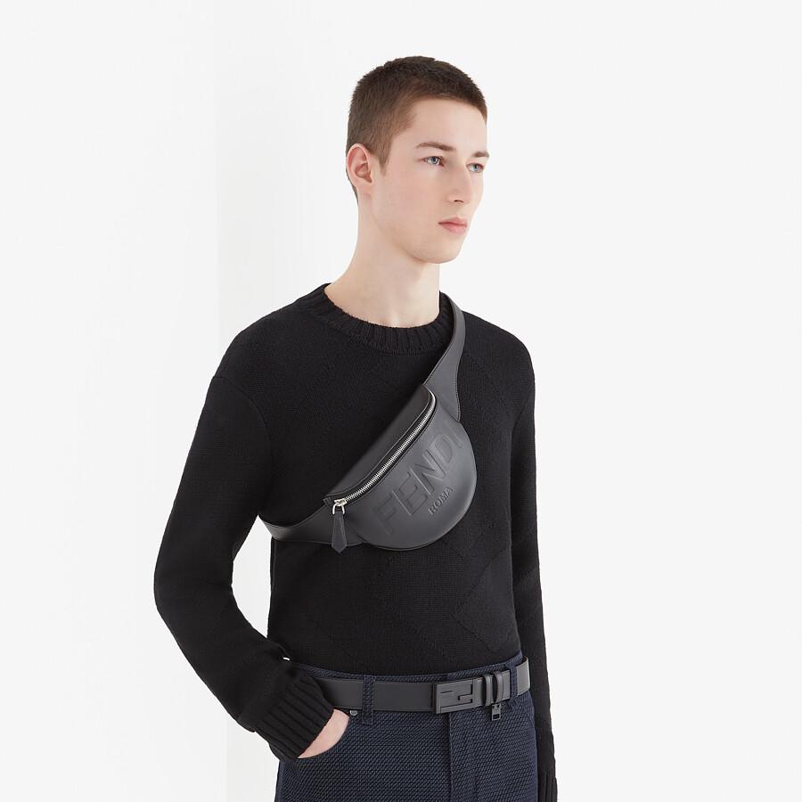 FENDI BELT BAG - Black leather belt bag - view 5 detail