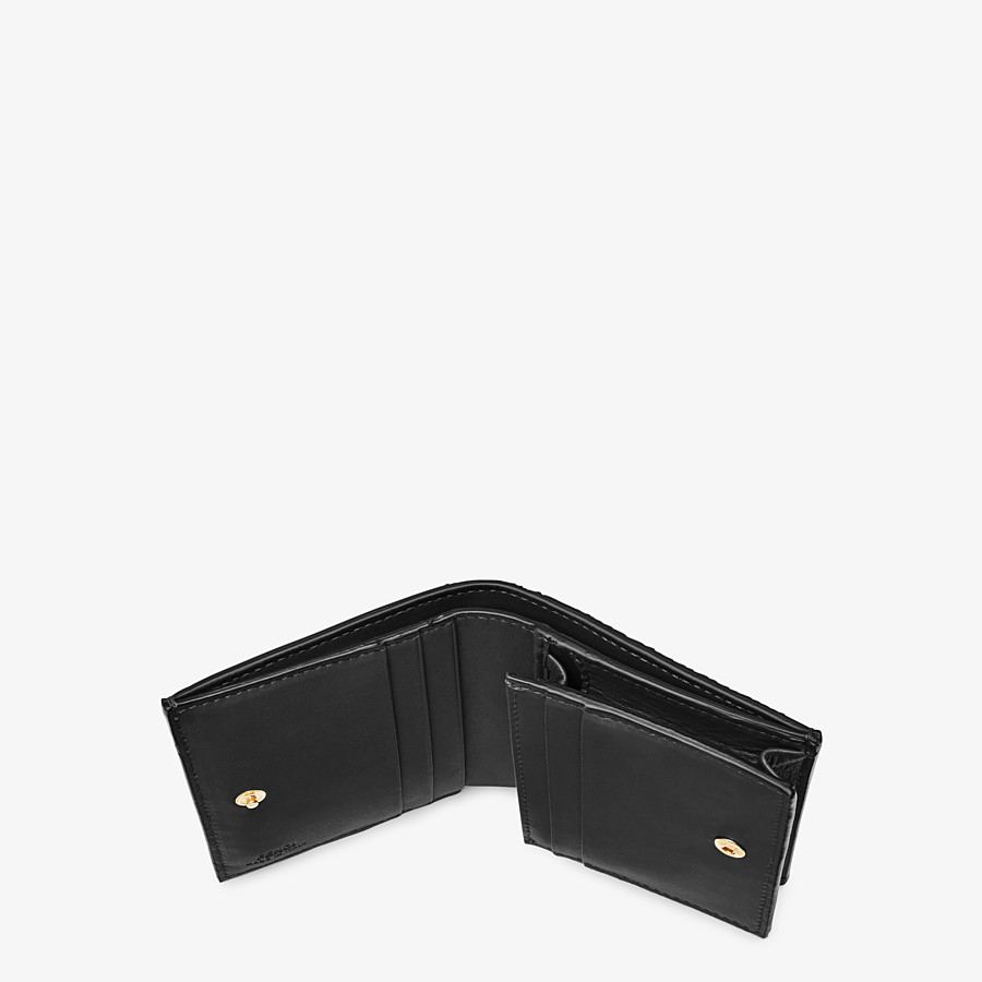 FENDI SMALL WALLET - Black nappa leather wallet - view 4 detail