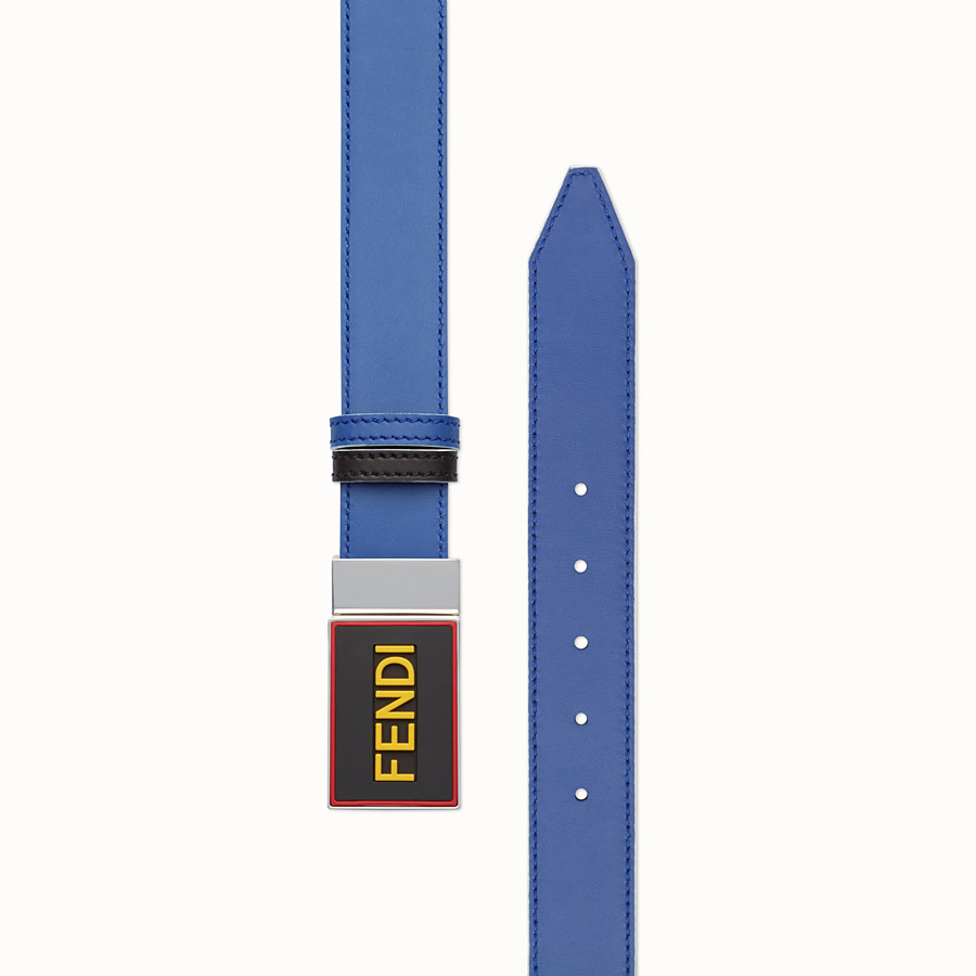 FENDI BELT - Reversible blue and black belt - view 2 detail