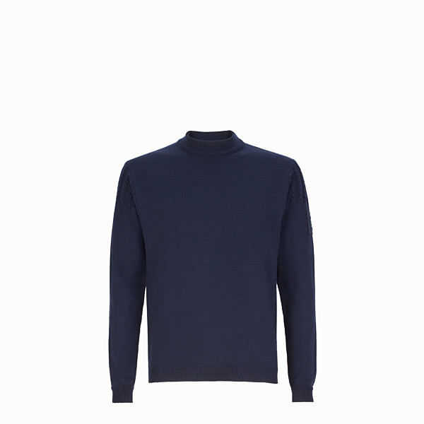 FENDI PULLOVER - Blue wool sweater - view 1 small thumbnail