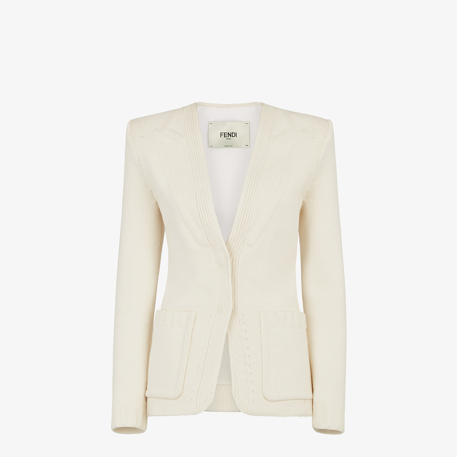 FENDI JACKET - White cotton jacket - view 1 detail