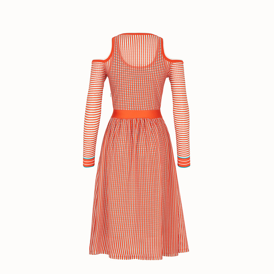 FENDI DRESS - Micro-check silk dress - view 2 detail