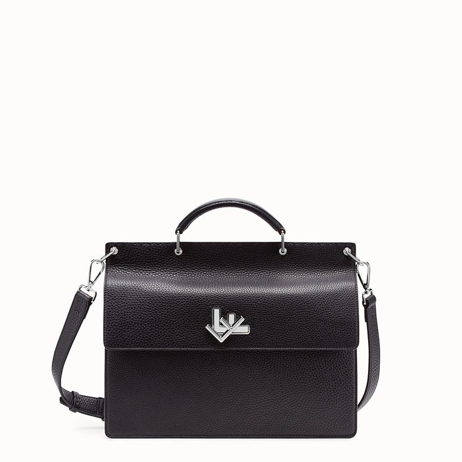 FENDI BUSINESS BAG - Black, calf leather bag - view 1 detail