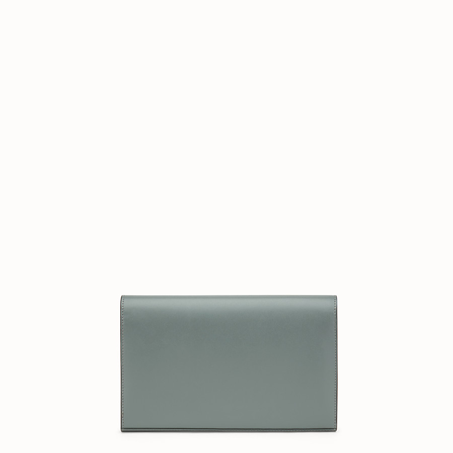 FENDI WALLET ON CHAIN - Green leather mini-bag - view 3 detail