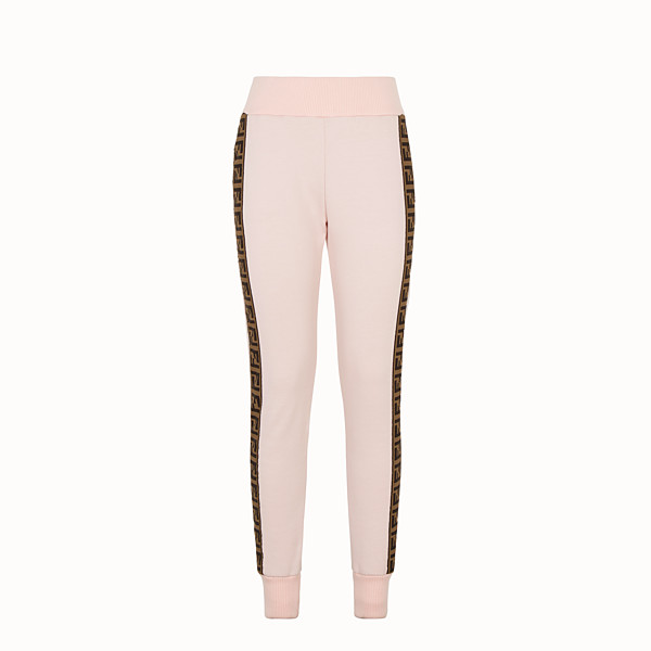 FENDI TROUSERS - Pink fabric tracksuit trousers - view 1 small thumbnail