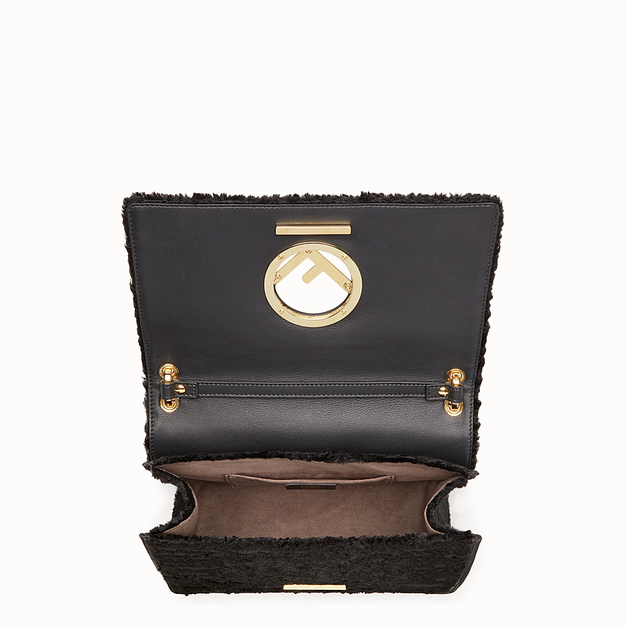 FENDI KAN I F - Black velvet bag - view 4 detail