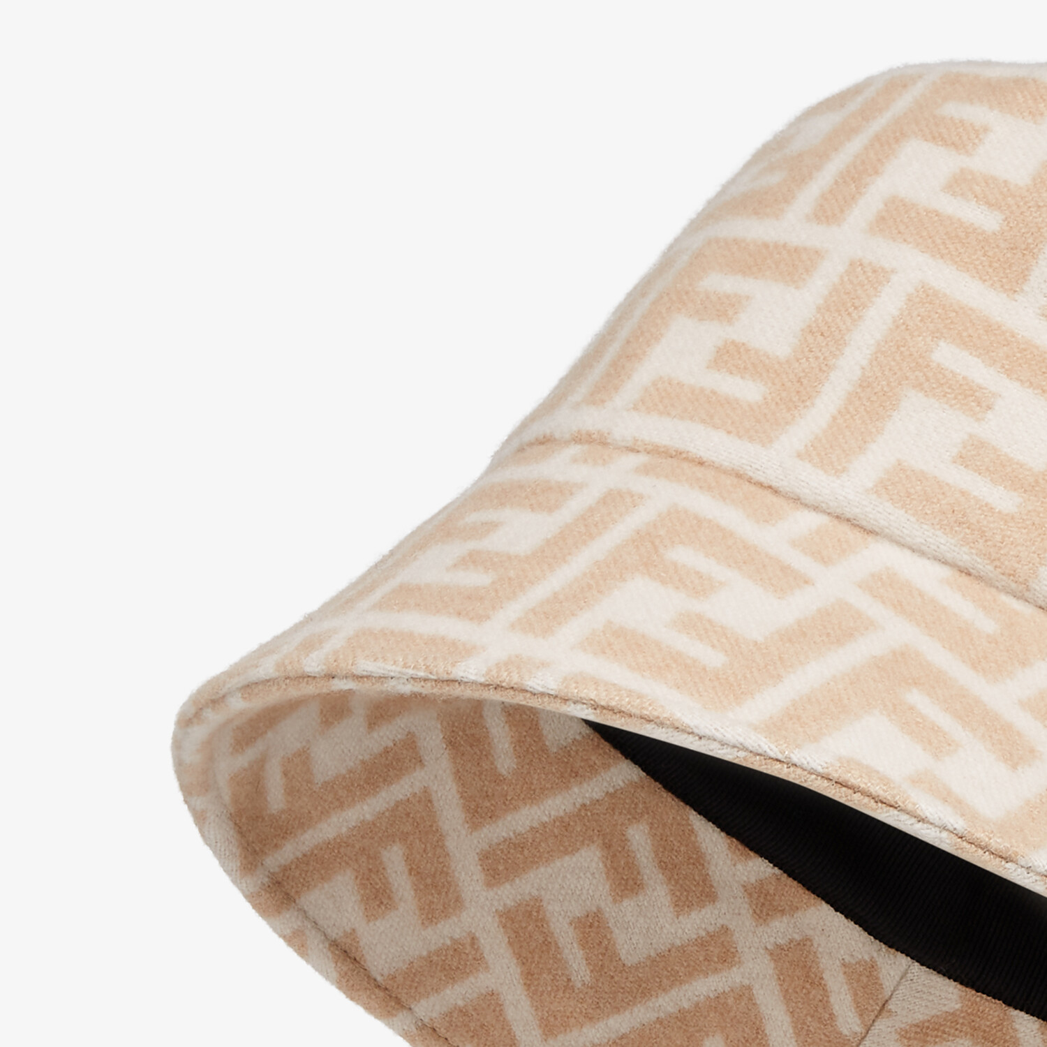 FENDI HAT - White silk and wool hat - view 2 detail