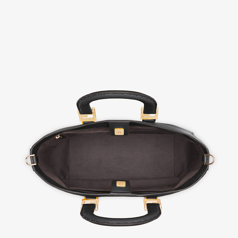 FENDI FF TOTE MEDIUM - Black leather bag - view 4 detail