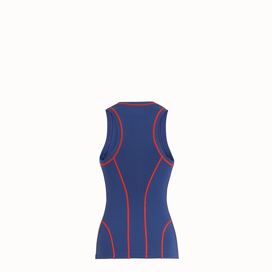 FENDI TANK TOP - Blue fabric fitness top - view 2 detail