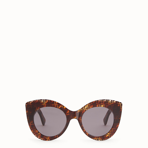 FENDI F IS FENDI - FF Sonnenbrille in Havannabraun - view 1 small thumbnail