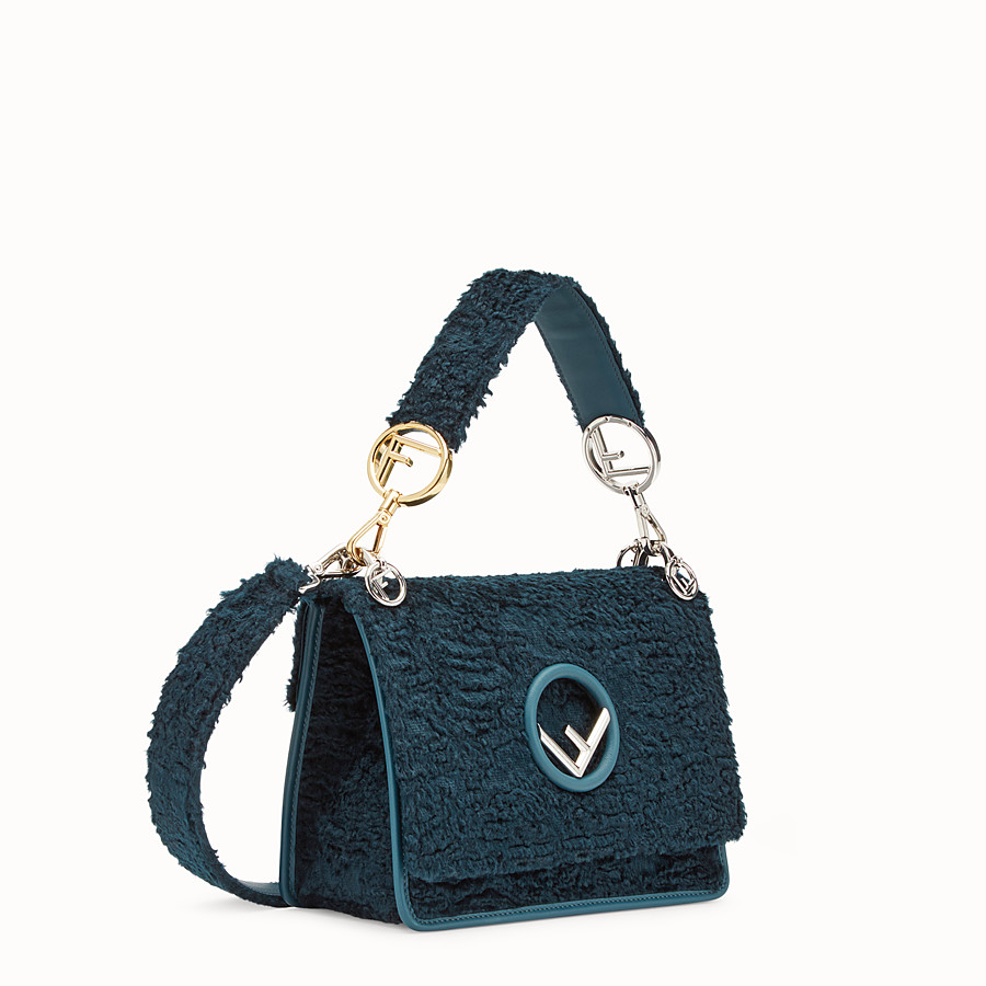 FENDI KAN I F - Blue velvet bag - view 2 detail