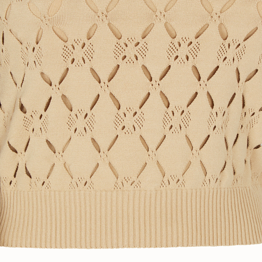 FENDI PULLOVER - Beige fabric jumper - view 3 detail