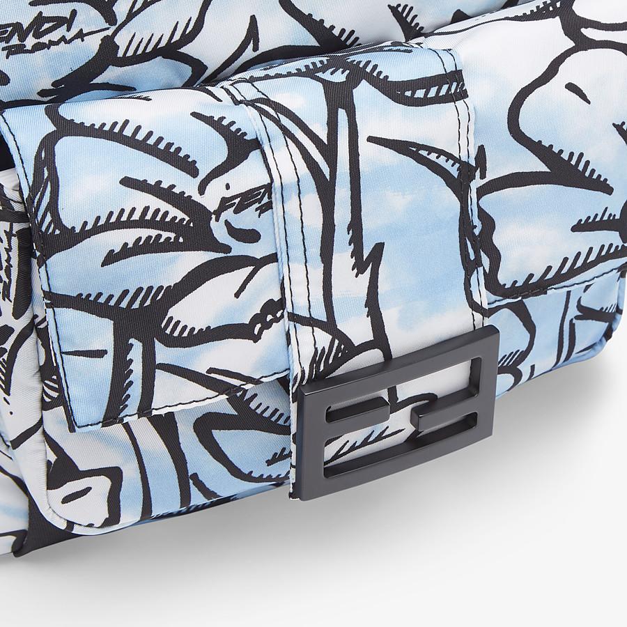 FENDI BAGUETTE BACKPACK - Floral-print nylon backpack - view 5 detail