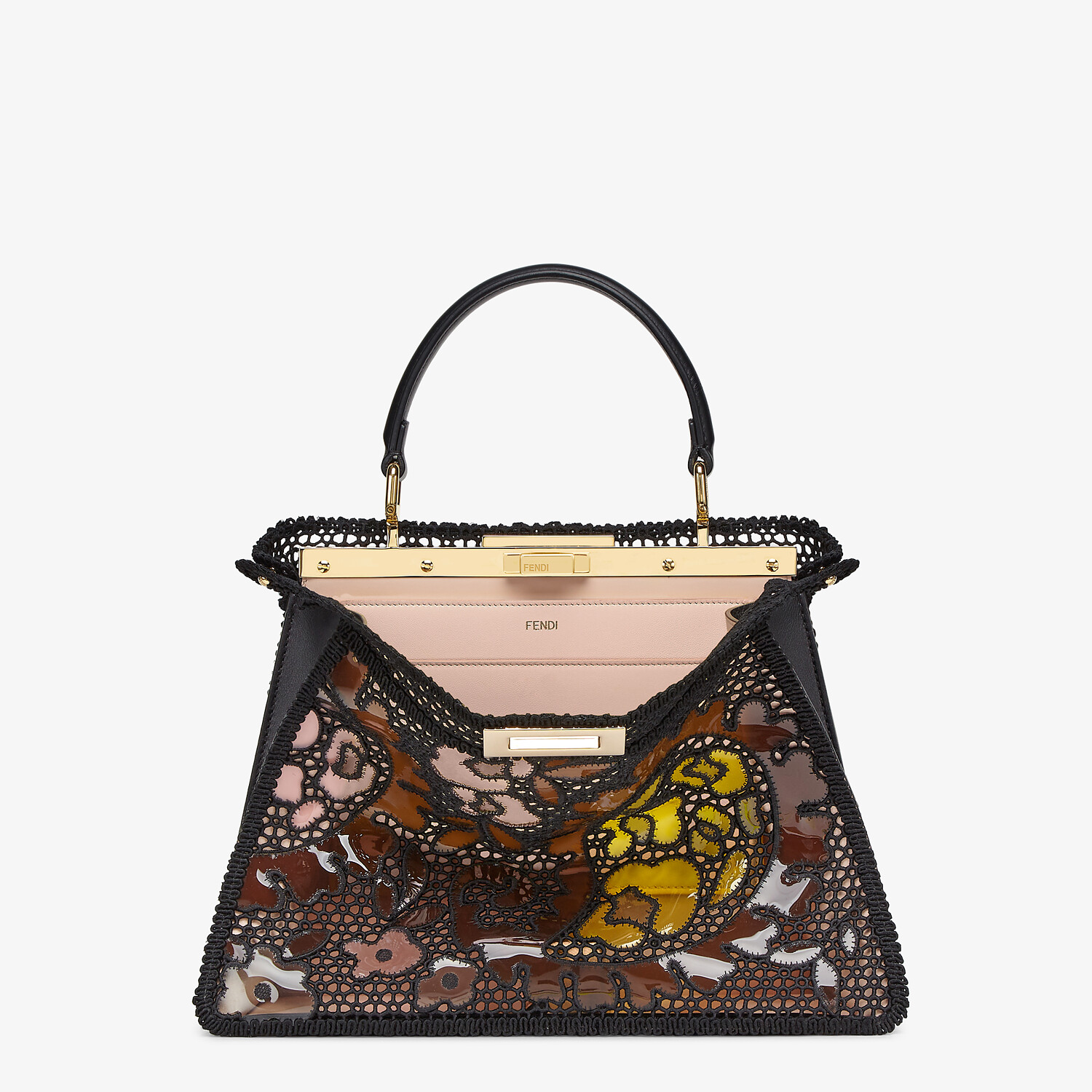 FENDI MEDIUM PEEKABOO ISEEU - Black lace bag - view 1 detail