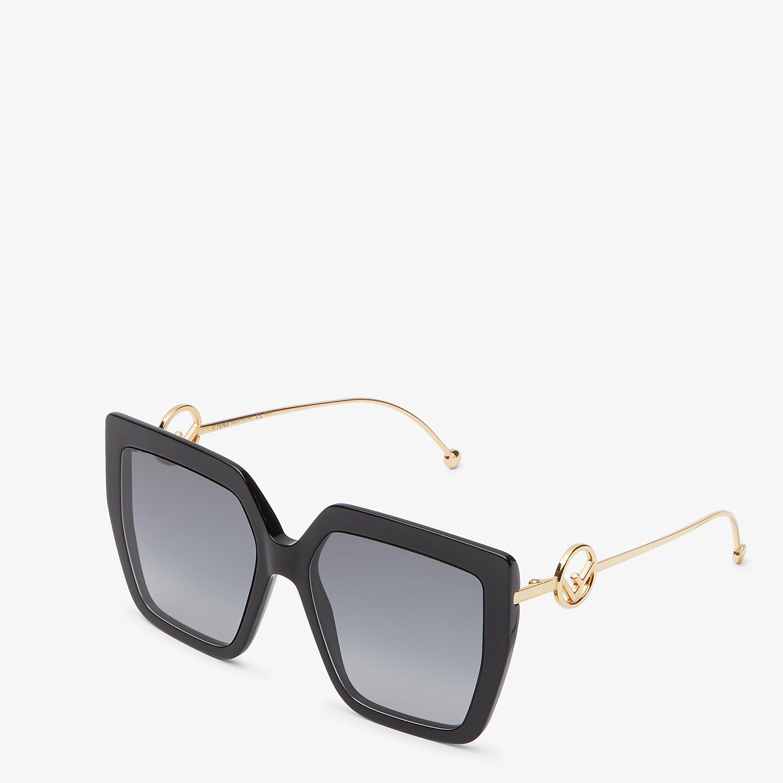 FENDI F IS FENDI - Black acetate and metal sunglasses - view 2 detail