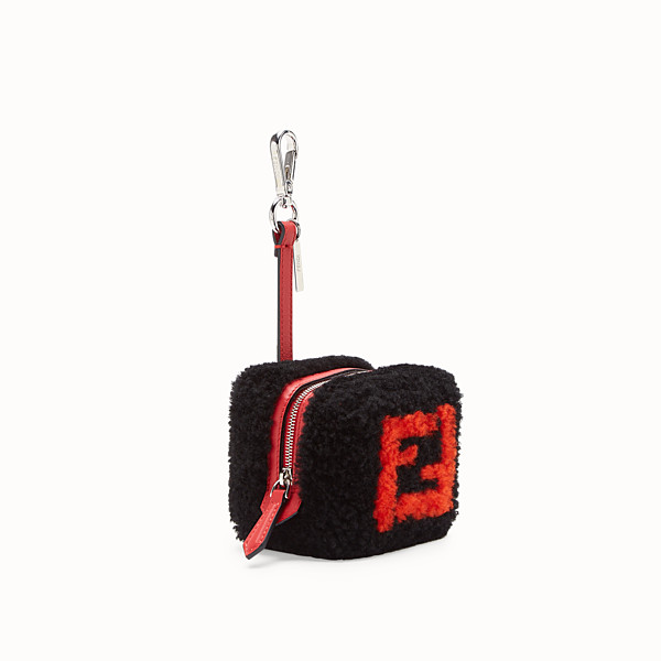 FENDI COIN PURSE - Black sheepskin charm - view 1 small thumbnail