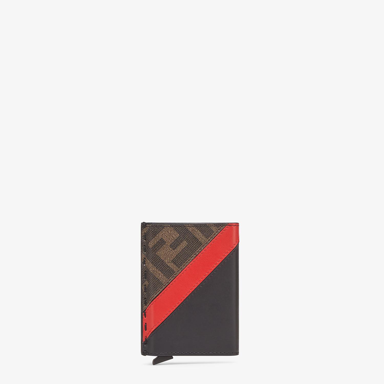 FENDI SLIDE OUT CARD HOLDER - Black leather card holder - view 1 detail