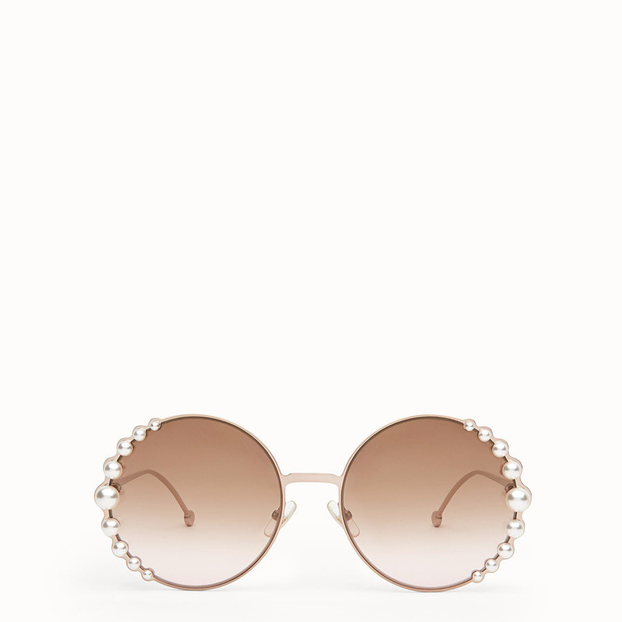 FENDI RIBBONS AND PEARLS - Metallic pink sunglasses - view 1 detail