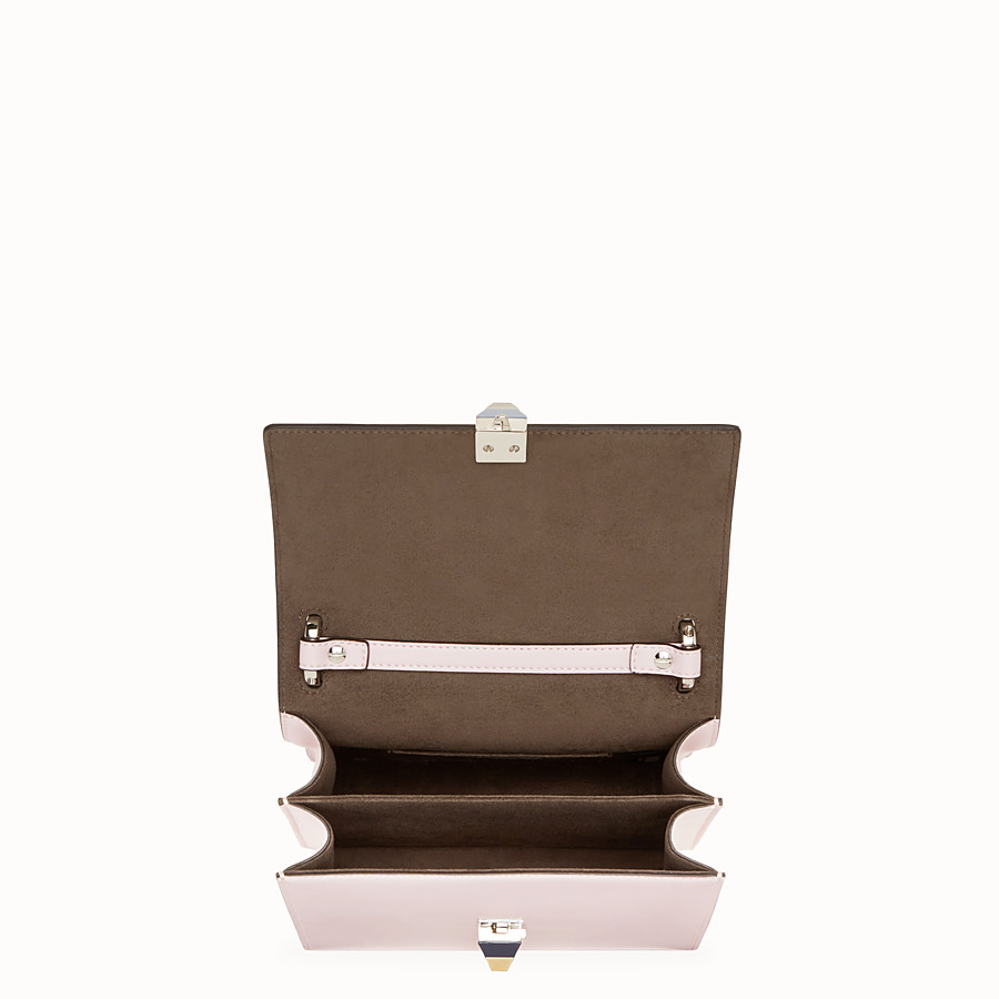 FENDI KAN I SMALL - Pink leather mini-bag - view 4 detail