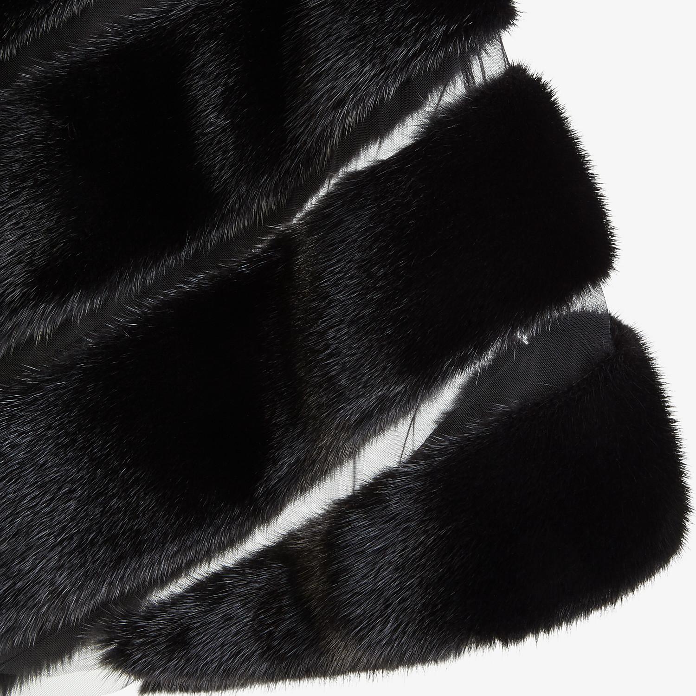 FENDI CAPE - Black mink cape - view 3 detail