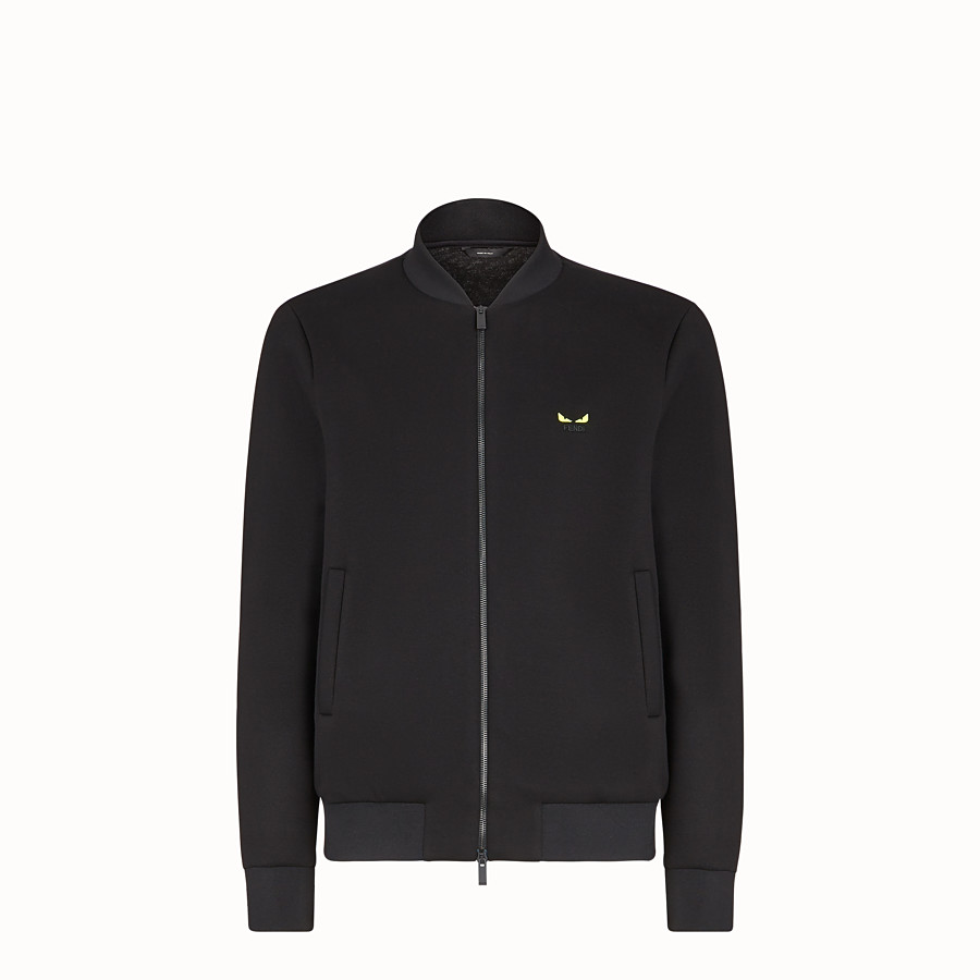 FENDI BLOUSON JACKET - Black scuba jacket - view 1 detail