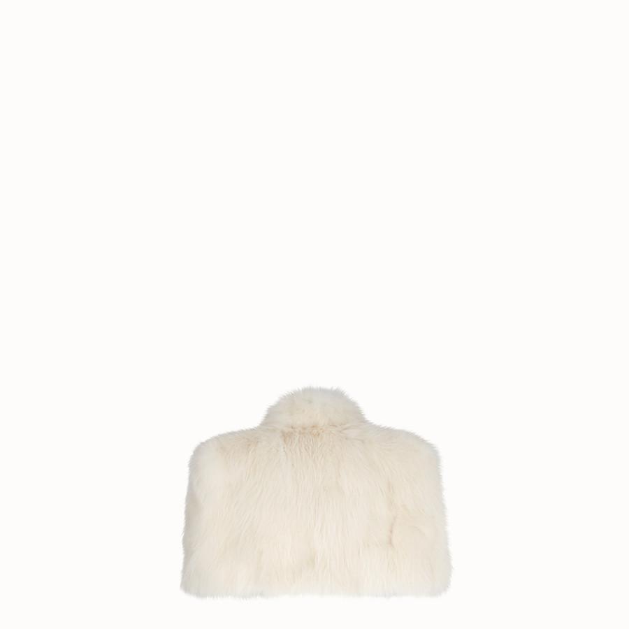 FENDI CAPE - White fur cape - view 2 detail