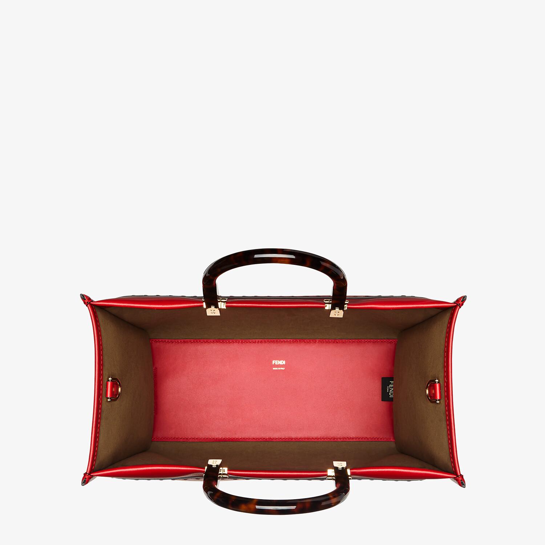 FENDI FENDI SUNSHINE MEDIUM - Red leather bag - view 4 detail