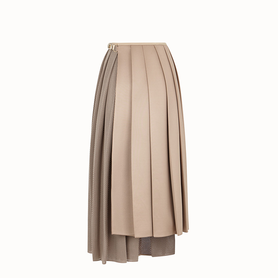 FENDI SKIRT - Beige jersey skirt - view 2 detail
