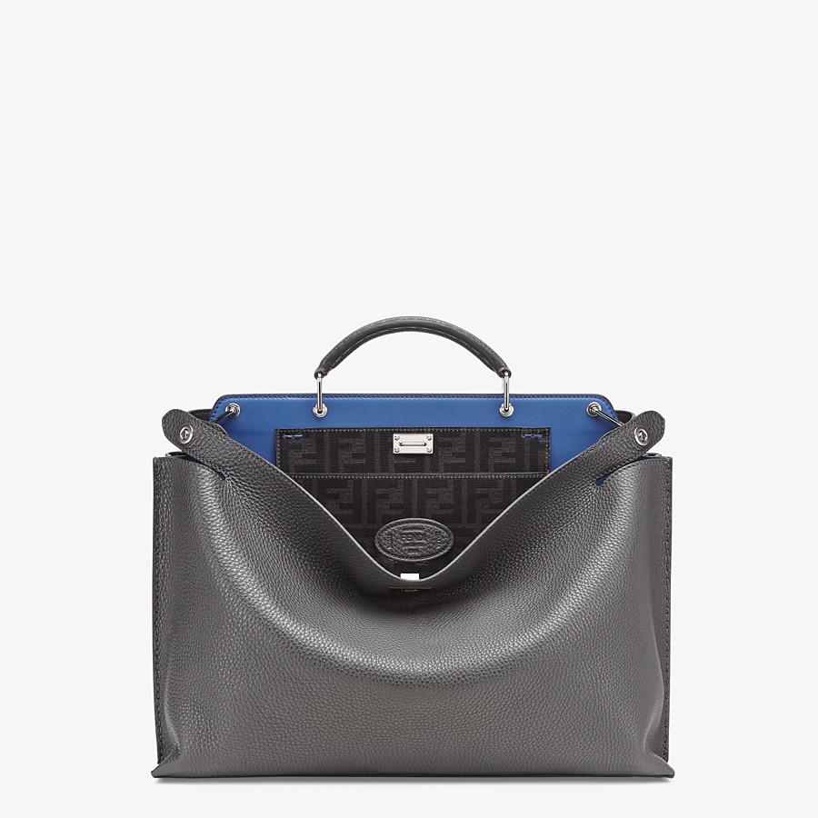 FENDI PEEKABOO ICONIC ESSENTIAL - Gray leather bag - view 1 detail