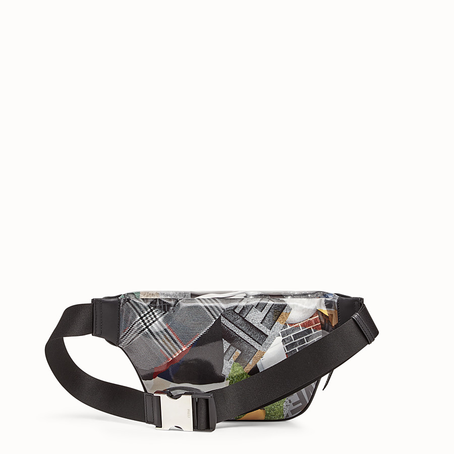 FENDI BELT BAG - Multicolour canvas belt bag - view 3 detail