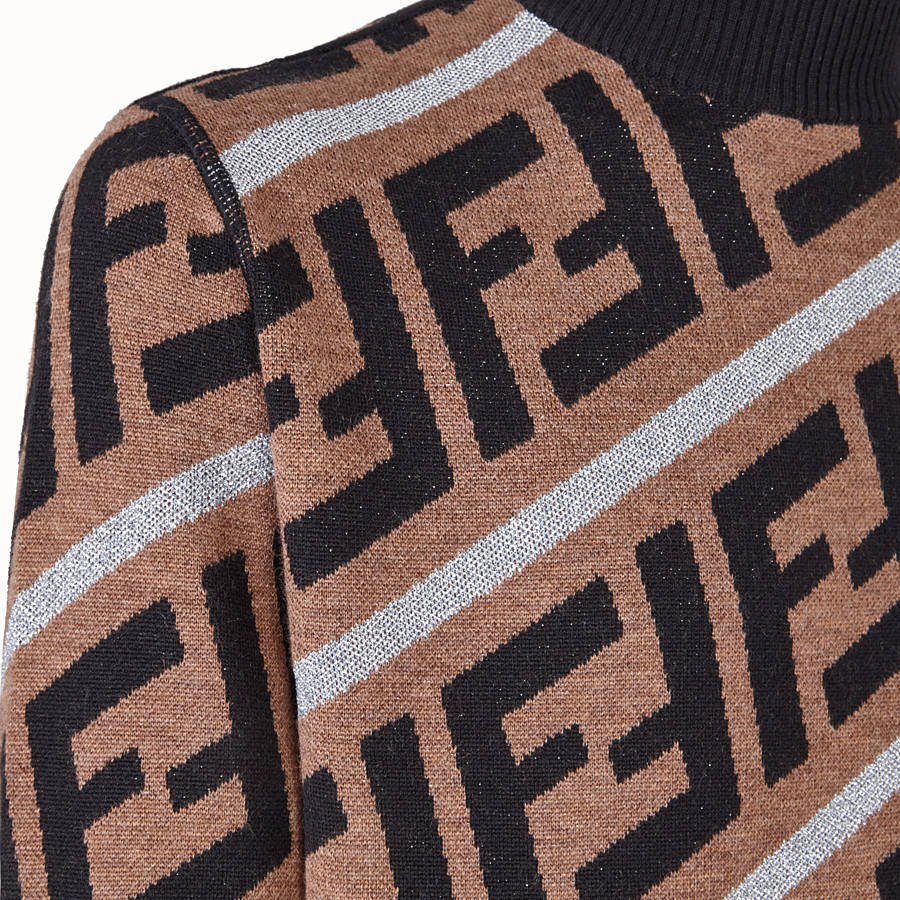 FENDI PULLOVER - Fendi Prints On woollen jumper - view 3 detail