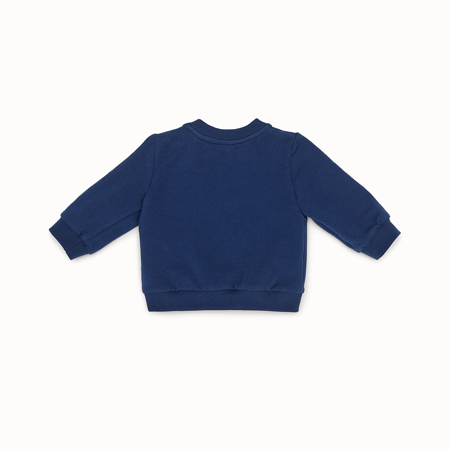 FENDI SWEATSHIRT - Blue cotton sweatshirt - view 2 detail