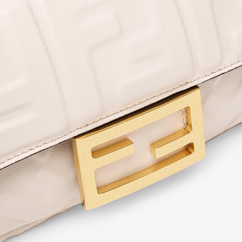 FENDI BAGUETTE - White nappa leather FF bag - view 5 detail
