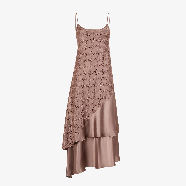 FENDI DRESS - Brown satin dress - view 1 detail