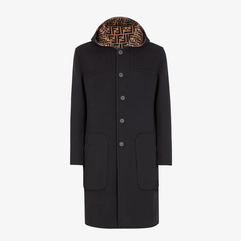 FENDI DUFFEL COAT - Black wool coat - view 1 detail