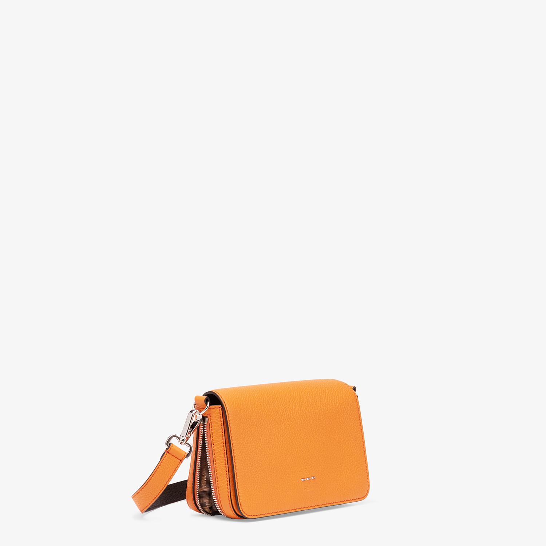 FENDI FLAP BAG - Orange leather bag - view 3 detail