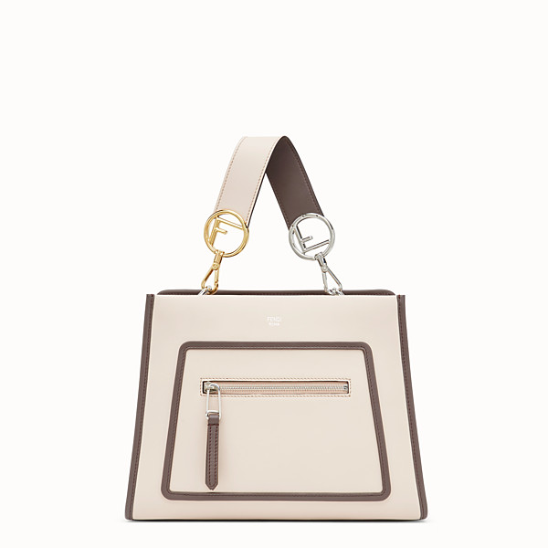 FENDI RUNAWAY SMALL - Pink leather bag - view 1 small thumbnail