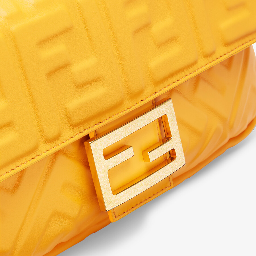 FENDI BAGUETTE - Orange nappa leather bag - view 6 detail